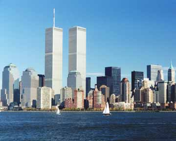 Picture Skyline on Skyline Of Lower Manhattan In New York City Before Sept  11  2001